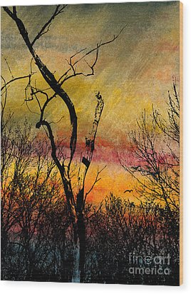 Autumn Rain Wood Print by R Kyllo