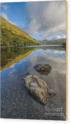 Autumn Reflection Wood Print by Adrian Evans