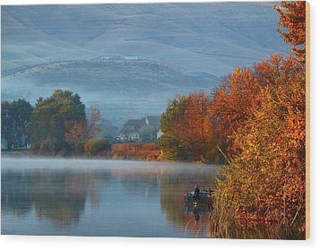 Wood Print featuring the photograph Autumn Reflection by Lynn Hopwood