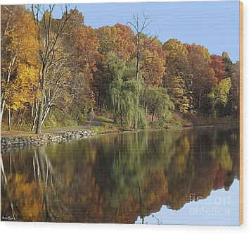 Autumn Reflections Wood Print by Bill Woodstock