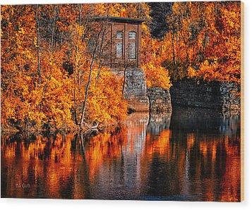 Autumn Reflections  Wood Print by Bob Orsillo