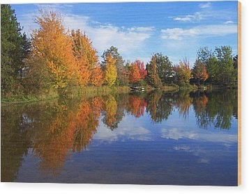 Autumn Reflections Wood Print by Brian Chase