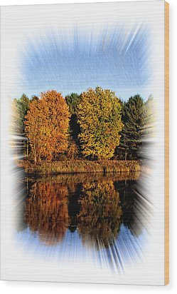 Autumn Reflections Wood Print by Constantine Gregory