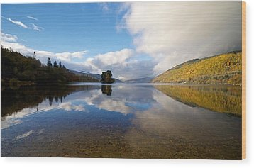 Wood Print featuring the photograph Autumn Reflections On Loch Tay by Stephen Taylor