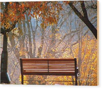 Autumn Retreat Wood Print by France Laliberte