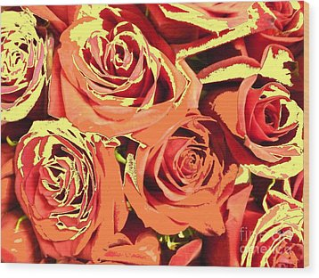 Wood Print featuring the photograph Autumn Roses On Your Wall by Joseph Baril
