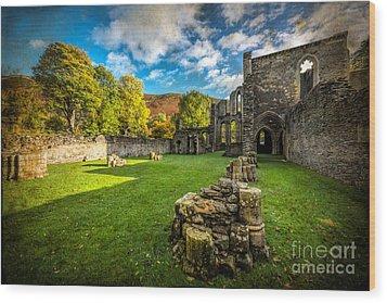 Autumn Ruins Wood Print by Adrian Evans