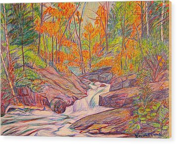 Autumn Rush Wood Print by Kendall Kessler