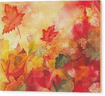 Autumn Serenade  Wood Print by Irina Sztukowski