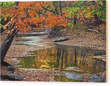 Autumn Serenity Wood Print by Frozen in Time Fine Art Photography