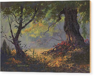 Autumn Shade Wood Print