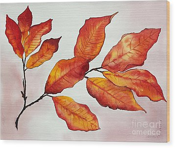 Autumn Wood Print by Shannan Peters
