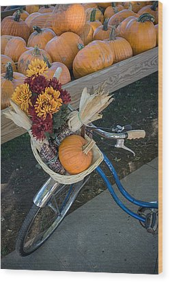 Wood Print featuring the photograph Autumn Shopping by Wayne Meyer