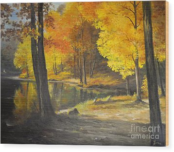 Autumn Silence  Wood Print by Sorin Apostolescu