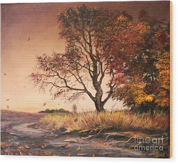 Autumn Simphony In France  Wood Print by Sorin Apostolescu