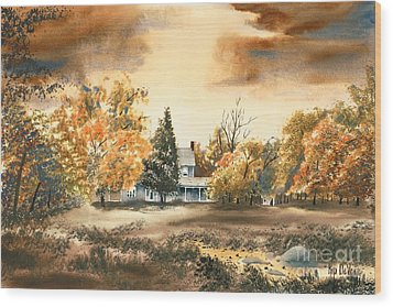 Autumn Sky No W103 Wood Print