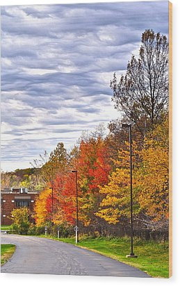 Autumn Sky Wood Print by Frozen in Time Fine Art Photography
