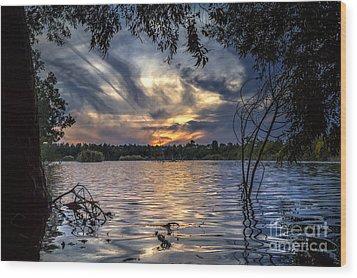 Autumn Sky Wood Print by Stelios Kleanthous