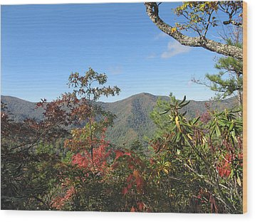 Autumn Smoky Mountains Wood Print by Melinda Fawver