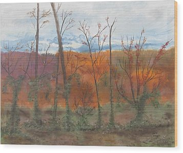 Wood Print featuring the painting Autumn Splendor by Diane Pape