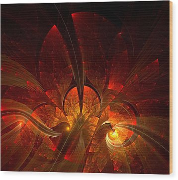 Autumn Splendor Wood Print by Lea Wiggins