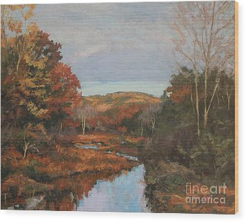 Autumn Stream Wood Print by Gregory Arnett