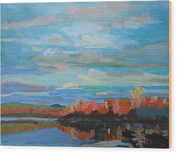 Autumn Sunrise Wood Print by Francine Frank