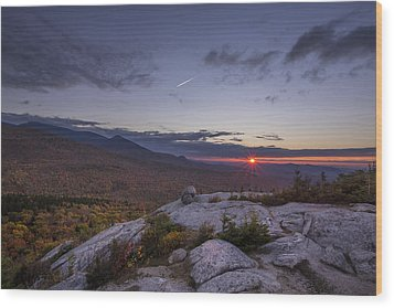 Autumn Sunset Over Sugarloaf Mountain Wood Print