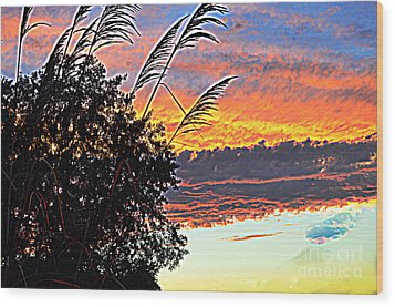 Autumn Sunset Wood Print by Luther Fine Art