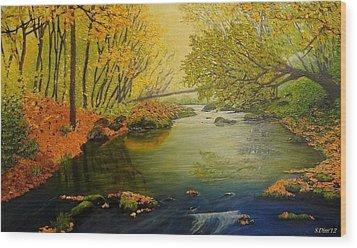 Autumn Wood Print by Svetla Dimitrova