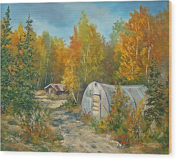 Autumn Tapestry  Wood Print by Gracia  Molloy