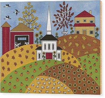 Autumn Tapestry Wood Print by Medana Gabbard
