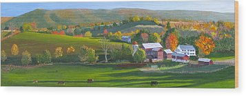 Autumn The Year's Last Loveliest Smile Wood Print by Barb Pennypacker