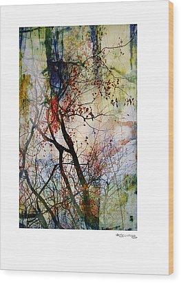 Autumn Tree Composition  Wood Print by Xoanxo Cespon