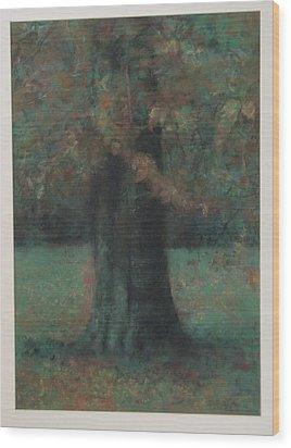 Autumn Tree Wood Print by Paez  Antonio