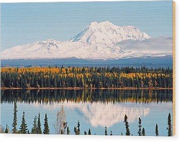 Autumn View Of Mt. Drum - Alaska Wood Print by Juergen Weiss