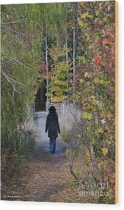 Wood Print featuring the photograph Autumn Walk by Tannis  Baldwin