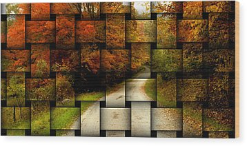 Autumn Weave Wood Print