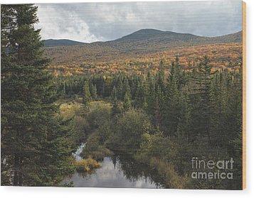 Autumn - White Mountains New Hampshire Wood Print by Erin Paul Donovan