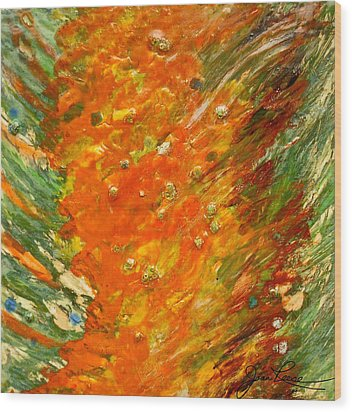 Wood Print featuring the painting Autumn Wind by Joan Reese