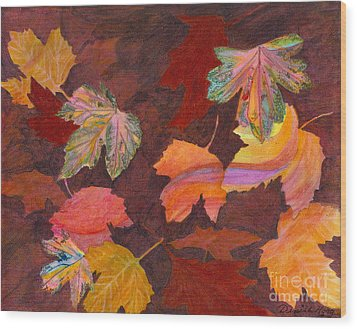 Autumn Wonder Wood Print by Denise Hoag