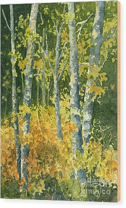 Autumn Woods Wood Print by Lynne Wright