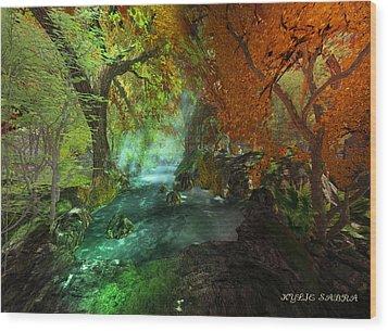 Autumnal Solitude  Wood Print