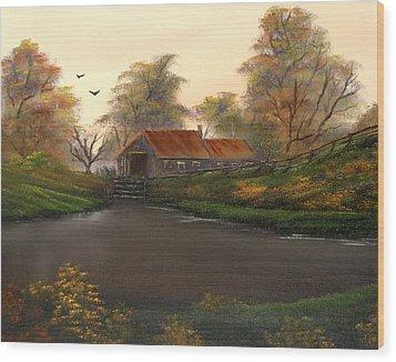 Autumnal Sunrise. Wood Print by Cynthia Adams