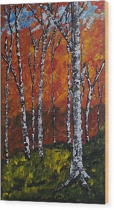 Autumnforest Wood Print