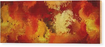 Autumn's Abstract Beauty Wood Print