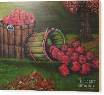Autumn's Bounty In The Volunteer State Wood Print by Kimberlee Baxter