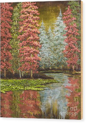 Autumn's Brilliance Wood Print by Vic  Mastis