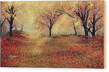 Autumn's Colors Wood Print by Anthony Fishburne