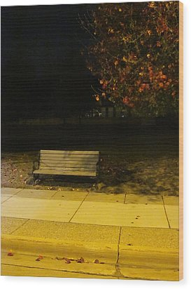 Autumn's Nocturnal Solace Wood Print by Guy Ricketts